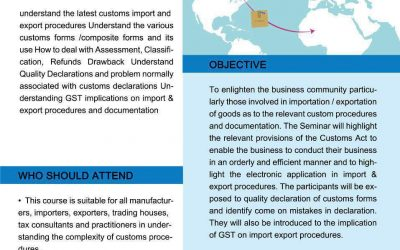 Import, Export, Procedures Documentation and Incoterms