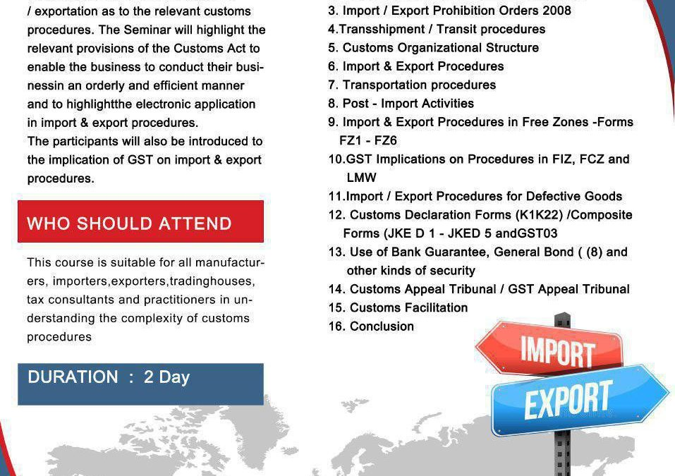 Import, Export, Procedures for SMES / Non SMES