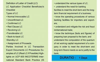 Letter of Credit (LC) for the Trade Enhancement